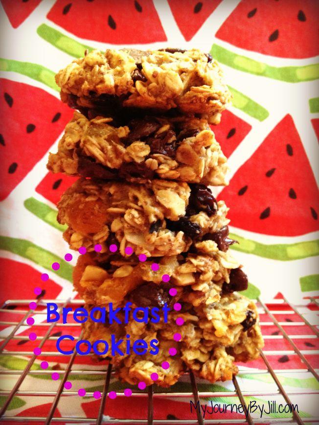 MyJourneyByJill Breakfast Cookies